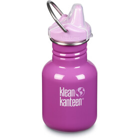Klean Kanteen Classic Bottle 355ml with New Sippy Cap Kids bubble gum
